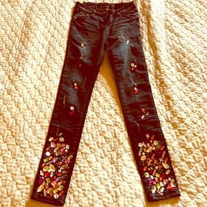 Black stretch Jeans with stones